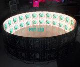 Крытый изогнутый P6 экран цилиндра индикации СИД с подгонянными размерами диаметра (2X2m, 6X2m)