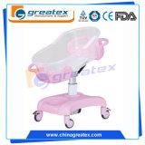 Chariot réglable de bébé d'amortisseur, &#160 ; Huche en plastique &#160 de bébé d'hôpital ; (GT-2310A)