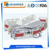 Bâti d'hôpital électrique de cinq fonctions avec la plate-forme transparente de rayon X