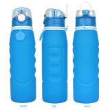 Foldable 실리콘 병을 마시는 누설방지 휴대용 물