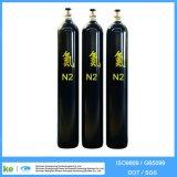 De naadloze Gasfles ISO9809 van Co2 van het Helium van het Argon van de Waterstof van de Zuurstof van het Staal