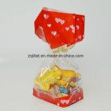 sac en plastique de 1.6mil BOPP poly 40 microns sac transparent de BOPP de poly