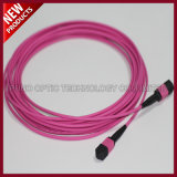 12 Fibes Optical MTP MPO Aqua OM3 Trunk Cable