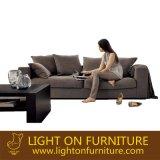 O sofá moderno da tela da cor do café do melhor preço ajustou-se para a sala de visitas (F810)