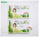 Nuevo mecanismo impulsor vendedor caliente del flash del USB de la tarjeta del rompecabezas con la insignia colorida de la impresión (WY-C03)
