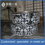Mobília redonda da tabela do aço inoxidável do projeto especial da arte da manufatura da fábrica