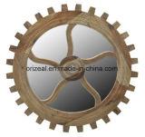 様式円形の木の組み立てられた装飾的なミラーの化粧品ミラー