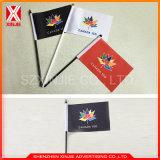 Изготовленный на заказ высокое печатание разрешения рука сигнального флажка развевая малый флаг
