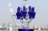 """De Waterpijp van het Glas van de recycleermachine met Booreiland 12 """" Lange Wasfles Twee van 8 Wapens Functies met de Spijker van het Kwarts van 14mm"""