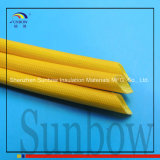 Hars van het silicone bedekte de ElektroGlasvezel Sleeving van de Isolatie met een laag