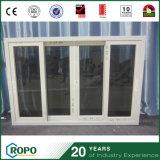 Diseño esmaltado doble de la ventana de las persianas de la tormenta del PVC de Nueva Zelandia