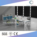 Sitio de trabajo moderno de la oficina del vector de la combinación de los muebles
