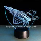 Luz acrílica da noite do diodo emissor de luz da venda direta da fábrica, lâmpada Home acrílica da decoração 3D