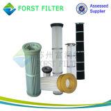 Forst Metall bedeckt Polyester-nordischen Gewebe-Filtereinsatz mit einer Kappe