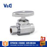 Угловой вентиль круглого сброса латунный (VG-E20502)