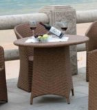 Panama Style Outdoor Furniture Rattan Table and Chair