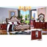 Mobilia classica della camera da letto impostata con la base ed il guardaroba classici (W801#)