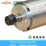Motor asíncrono trifásico de alta velocidad refrigerado por agua del eje de rotación de la fabricación 300W para el ranurador de talla de madera del CNC
