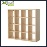 biblioteca de madeira/de madeira do café 4-Tier do indicador dos media do gabinete