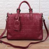 Vente en gros de luxe de sac d'épaule d'emballage de modèle de crocodile d'impression du sac à main de cuir le plus neuf pour les dames Emg5122