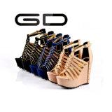 Le cuir romain de talon haut de dames de courroie de mode de Gdshoe coince des chaussures