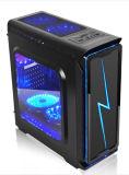 多彩なLEDの切換えの純粋な黒ATXのコンピュータの箱