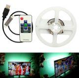 Da tira impermeável ao ar livre flexível vermelha branca do diodo emissor de luz do USB RGB luz de Natal traseira da tevê SMD