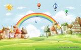 Kleines Haus im Baum-Kind-Entwurfs-Ölgemälde