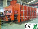 Pressa di vulcanizzazione d'acciaio del nastro trasportatore del tessuto/del cavo/macchina di vulcanizzazione della cinghia