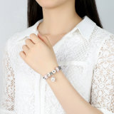 최신유행 백색 꽃 펜던트 & 분홍색 Murano 구슬 팔찌
