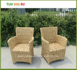 H-Outdoor Round Wicker Chair con 5cm Cushion