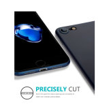 caixa azul Matte Semi-Transparent da pele fina antiderrapante do iPhone 6