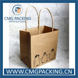 Sacchetto riciclato della carta kraft di stampa di verde del commestibile (DM-GPBB-218)
