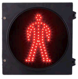 Pulgada estática roja clara 300m m del hombre 12 de la señal de tráfico peatonal