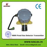 Rivelatore fisso del trasmettitore del gas della visualizzazione di LED di K800-D 4-20mA H2s