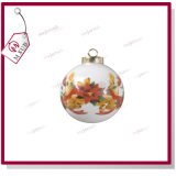 Personalized Printingのための7.5cm Sublimation White Ceramic Bauble