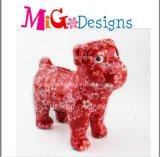 China-Fertigung-keramischer roter Abziehbild-HundePiggy Bank