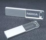Acrílico transparente de memoria flash 128 MB-64 GB de acrílico unidad USB con LED