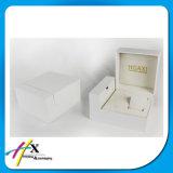 Painoの黒いラッカー木の革時計ケース包装ボックス