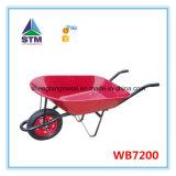 Carrinho de mão de roda industrial da construção com a roda dois