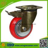 産業赤PUの足車の車輪