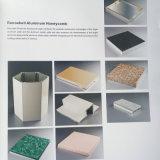 Sistema de aluminio gris clásico de la fachada de los paneles de emparedado del panal