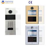 Sistema de telefone video prendido estável da porta do IP para um edifício/casa de campo