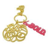 Anello chiave del metallo promozionale su ordinazione del regalo