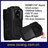 Visión nocturna Police Body Worn Video Camera de TFT Screen Mini HD1080p 30fps Infrared