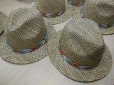 El último nuevo sombrero de paja de la manera 2016 con la cinta del sombrero tejida acoplamiento (SW-080017)