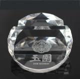 De Decoratie van de Bevordering van de Houder van het Adreskaartje van de Presse-papier van het kristal (Ks14060)