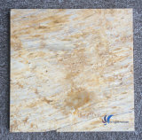 Azulejo de suelo amarillento natural Polished del travertino