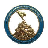 Qualidade nós moeda da liga do zinco do Corpo dos Marines com entalhe