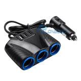 3 de Lader van de Contactdozen van de Aansteker van de auto met Haven 3 USB